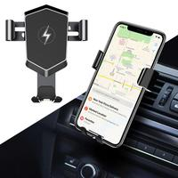 Portable Universal Qi Car Wireless Fast Micro USB Charger Charging Holder Cradle Black 10W (Max) Mount
