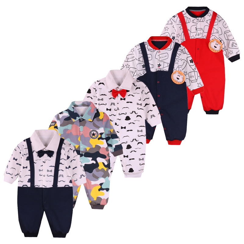 2017 New spring/autumn boys/girl clothing 3-12month baby rompers cotton Gentleman Body Suit long sleeve newborn baby clothes baby clothes new hot long sleeve newborn infantil boys kids 100% cotton for boys girls rompers winter spring autumn boy clothing