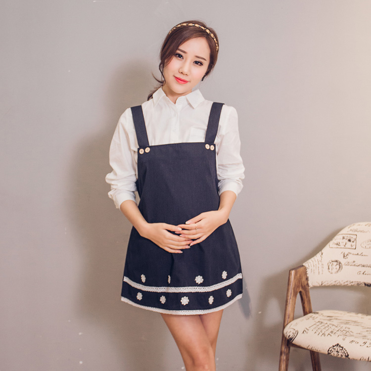 Korean genuine genuine metal radiation protective clothing snowflakes dress spring and summer new maternity dress