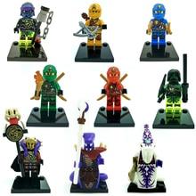 Single sale Ninjagoes building blocks sets minifigures brinquedos juguetes brick toys for children compatible with legoes