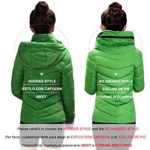 Image 5 - CRRIFLZ Autumn Winter Collection Short Jacket Women Parkas Outerwear Solid Hooded Coats Female Slim Cotton Padded Basic Jacket