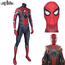 Ling Bultez High Quality 2017 Iron Spiderman Costume Spiderman Homecoming Cosplay Costume Tom Holland Iron Spider Man Suit