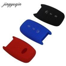 jingyuqin Car Key Silicone Cover for Kia Rio Sorento Cerato K3 Forte Rio5 Optima Smart Remote 3 Button Key Case Fob