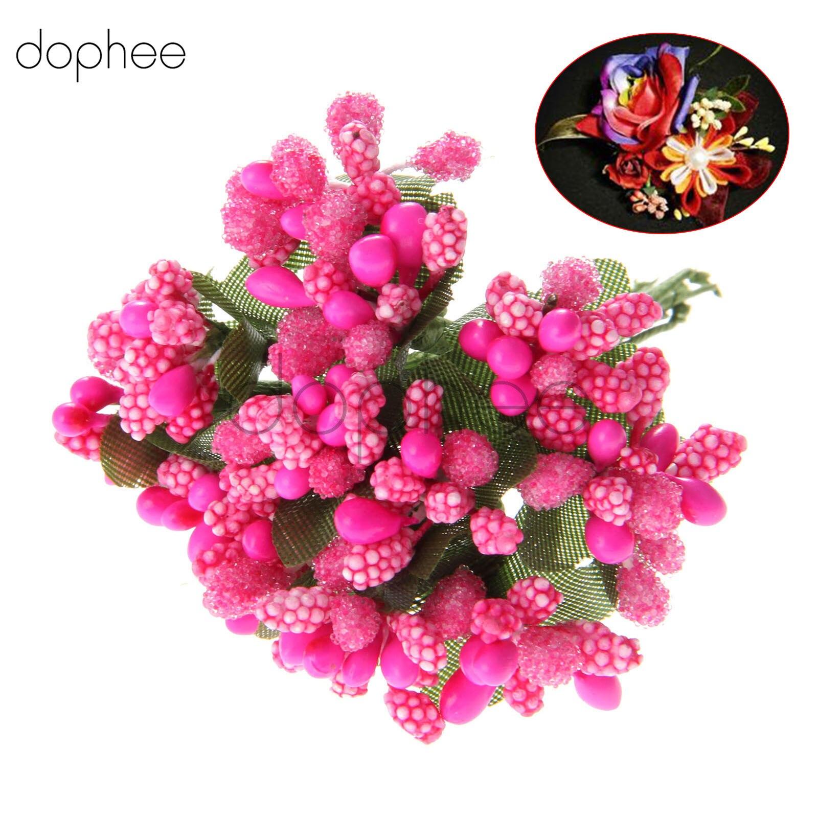 dophee1 bouquet 12pcs Artificial Mini Floral Foam Bridal Bouquet ...