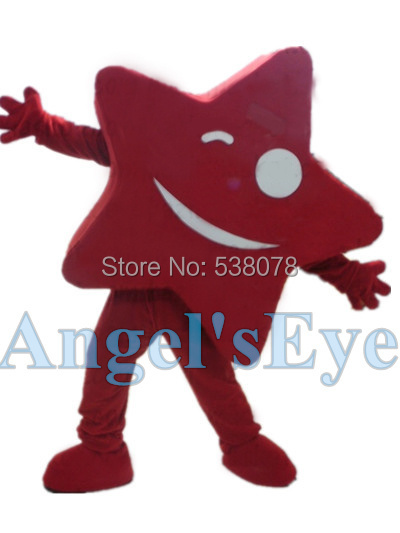 red Star Mascot Costume Star Theme Anime Cosplay Carnival Birthday