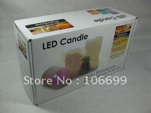 Hot sale!!!Led candles with wax and remote controller with 18 keys(NY-LC0518)