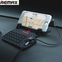 Remax Mobile Holder Car Dashboard Adjustable Bracket Magnet Connector with Charging USB Cable for iphone/Samsung GPS