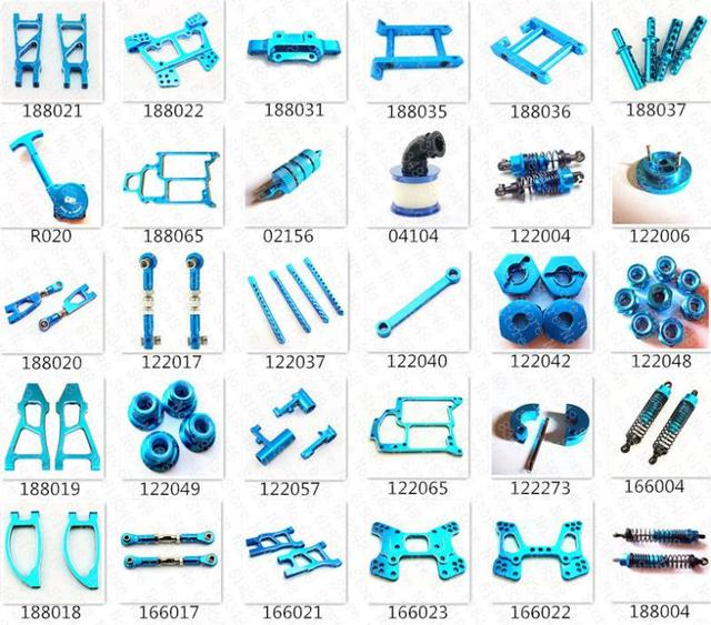 HSP Baja Upgrade Parts Kit Spare Parts Aluminum Alloy For HiSpeed Himoto Red Cat 1/10 4WD RC Model Car On/Off /Road Buggy Truck