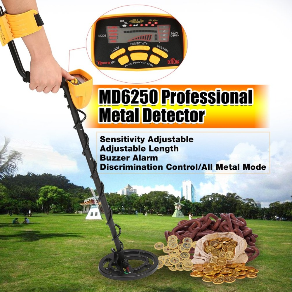 ACEHE MD6250 Professional Portable Mini Underground Metal Detector Handheld Treasure Hunter Gold Digger Finder Length Adjustable professional tx 850 deep penetrating gold nugget hunter pinpointing metal detector 19 khz frequency adjustable position armrest