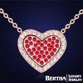 4 цветов новый продаж горячей сделано с элементами Swarovski сердца мода кристалл ювелирного ожерелье для женщин
