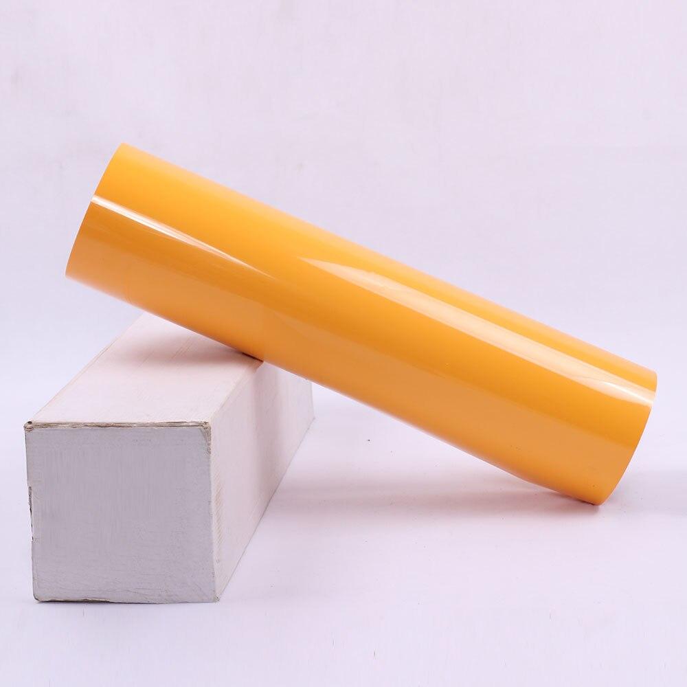 0,5x25 м оптовая продажа желтый теплообмена винил HTV футболка Ткань Винил DIY Дизайн тепла Пресс винила железа на