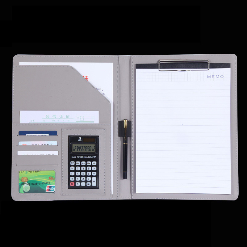 купить Business office supplies can at any time take notes folder Multi-function portable folder with a calculator по цене 1638.74 рублей