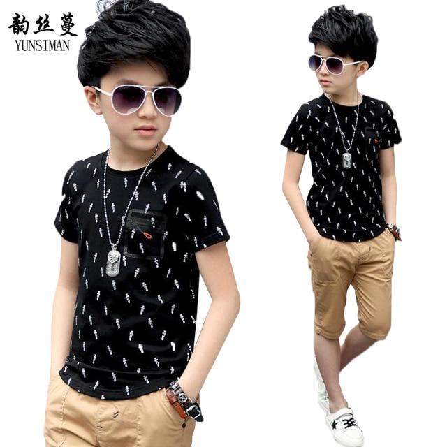 76de934f1 Baby Boys T shirt for 5 6 7 8 9 10 11 12 13 14 Year Kids Short ...