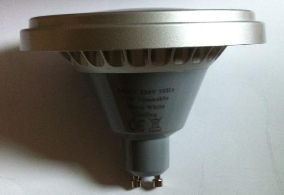 Ingyenes házhozszállítás Ar111 30degree Gu10 11w 700lm 200VAC - LED Világítás - Fénykép 4