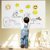 Vinly Chalkboard Wall Stickers Removable Whiteboard Decals Food Grade 45X200CM Self Adhensive Home DIY With 1pcs