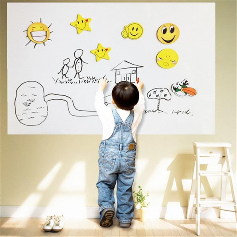 45x200cm Chalkboard Self Sticker Removable Whiteboard Home Decals Presentation Board DIY With Marker Pen Whiteboard