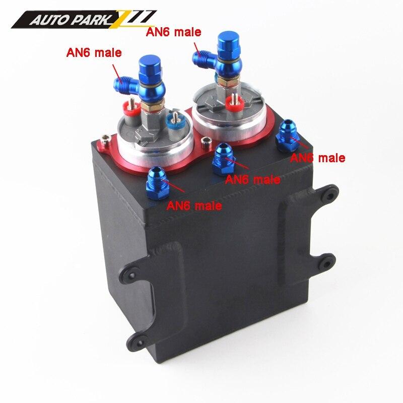 Otomobiller ve Motosikletler'ten Yakıt Pompaları'de Yüksek kaliteli 60mm harici çift yakıt pompası 0580254044 AN6 çıkış yağ yakıt tankı FP044W title=