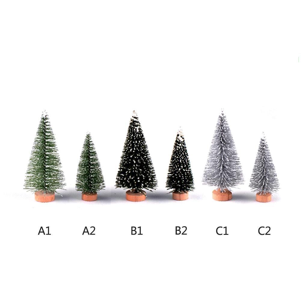 Christmas Tree Micro View Mini Christmas Tree Desktop Ornament Home Decoration 10-25cm Fast Shipping