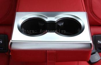 Đối với Alfa Romeo Giulia 2017 Car-styling ABS Chrome Rear Hàng Giữ Cốc Khung Bìa Trim Auto Phụ Kiện Nội Thất