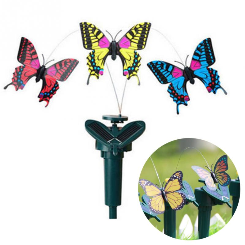 New vibration solar power dancing flying fluttering for Hummingbird decor