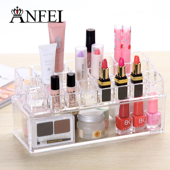 Lipstick Storage Box Transparent Cosmetic Makeup Organizer Acylic Lipstick  Holder Display Stand Home Storage Container C139
