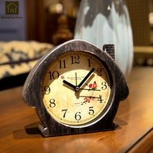 Reloj Despertador de campana creativo antiguo Retro alarma mecánica de noche relojes vibradores temporizador Despertador reloj de mesa Vintage WKJ022
