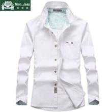 Casual Cotton Shirt Men 2018 Autumn Spring Plus Size M-4XL Mens Shirts