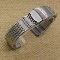 Alta Qualidade Pulseira De Metal Em Aço Inoxidável Faixa de Relógio 20mm Comum Fit Esportes homens Relógios Acessórios de Implantação Prata Novo