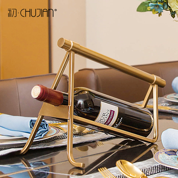 Europe creative metal red wine holders parlor wine rack gradevin bar study metal ornament home decor crafts room decoration gift