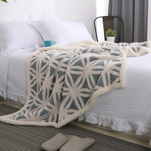 Image 5 - Super macio coral velo sherpa cobertor sofá xadrez cor azul rosa vison lance primavera viagem portátil cobertor único tamanho cobertores