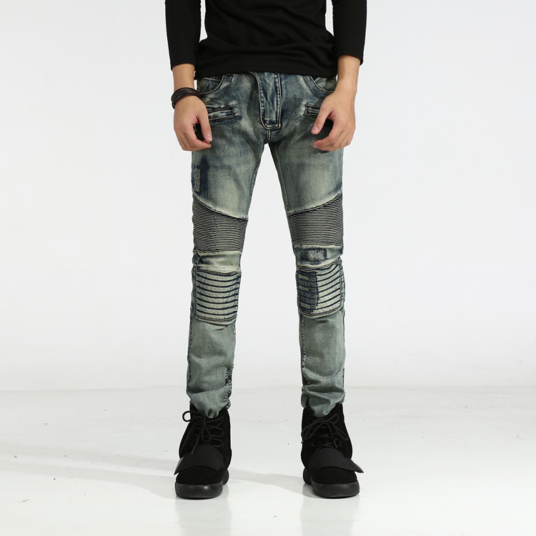 Fashion Design High Quality New Mens Casual Jeans Slim Elastic Straight Denim Biker Jeans Skinny Jeans Men Pants 29-42 недорого