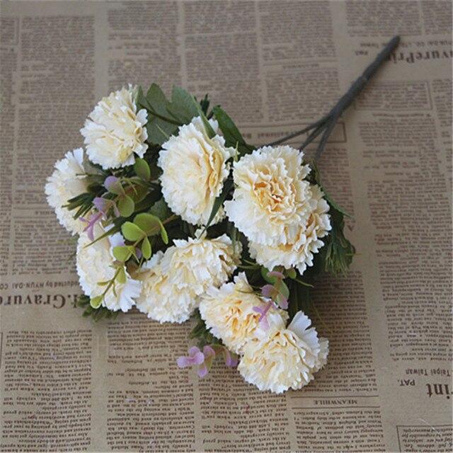 Delicieux 5 Forks 10 Flower Heads Silk Ball Chrysanthemum Flower Fake Artificial  Dandelion Outdoor Garden Decoration Flower