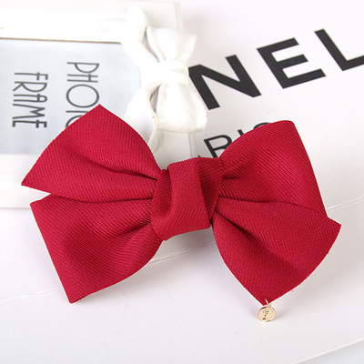 2017 New Fashion Arrival Big Solid Cloth Bows Hair Clips Hairpins Hair Accessories for Women Girl Wedding Hair Jewelry Headwear 3