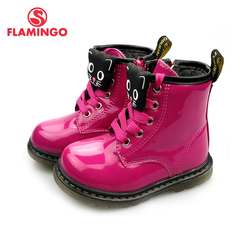 FLAMINGO Autumn Non-slip Keep Warm Children's Shoes Fashion Toddler Boots Size 22-28 Kids Shoes Free Shipping 82B-BNP-0956/0958