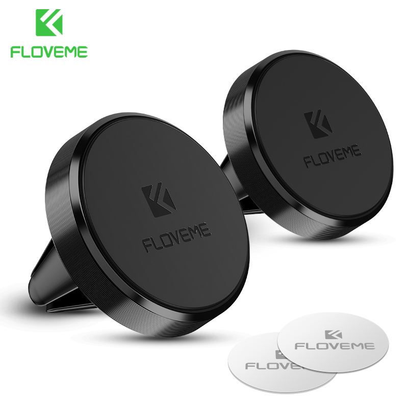 FLOVEME Universal Car Phone Holder Magnetisk Luftventil Mount Stand 360 Rotation Mobiltelefon Holder til iPhone 7 8 X Xs Max Xiaomi