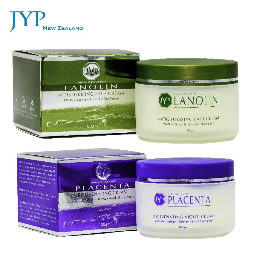 JYP Natural Lanolin Aloe Vera Day Cream+Sheep Placenta Night Cream Face Body Care Set Safe & Quality Moisturizing Touch Cream 2016 new bikinis women swimsuit high waist bathing suit plus size swimwear push up bikini set vintage retro beach wear swim xl