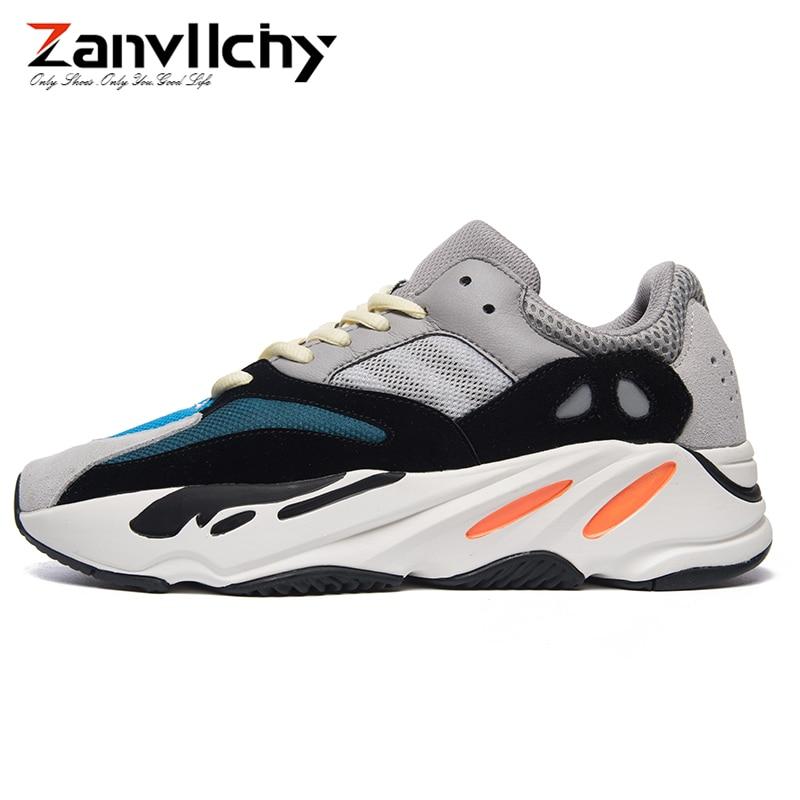 Zanvllchy 2019 Vintage papa hommes chaussures Top qualité Kanye West 700 baskets respirant léger mâle chaussures décontractées marque hommes formateurs