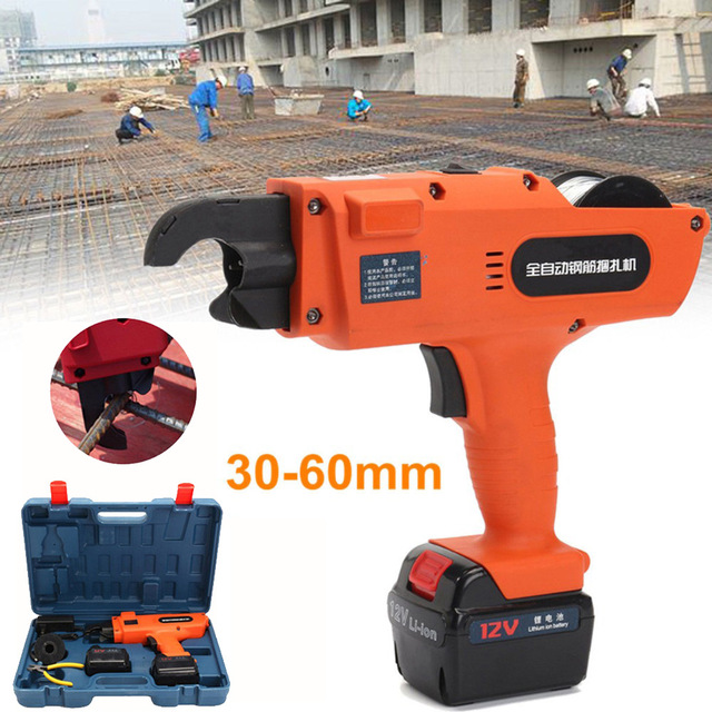 High Quality Newest Automatic Handheld Rebar Tier Tool Building Tying Machine Strapping 30-60mm with 2 batteries цена