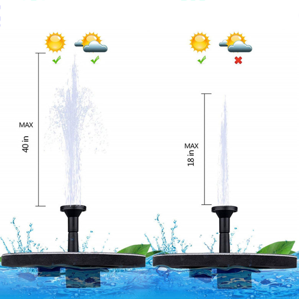 7V Solar Fountain Watering Kit Power Solar Pump Pool Pond Submersible  Floating Solar Panel Water Fountain For Garden