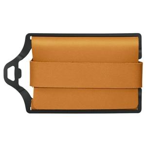 Image 2 - ZEEKER металлический держатель для карт, кошельки для кредитных карт, Кожаный минималистичный кошелек, кошелек с передним карманом цвета хаки