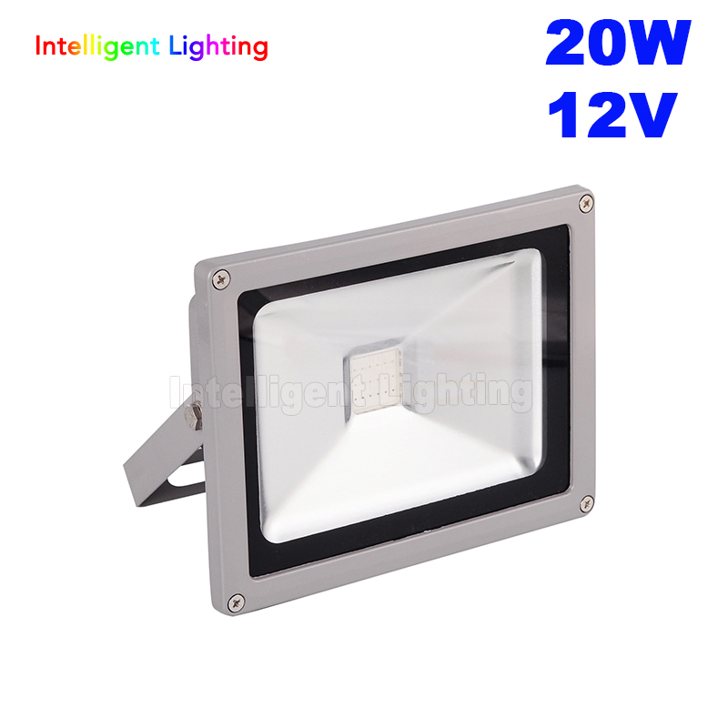 Waterproof IP65 Led Flood light 20W 12V Red/Blue/Green/RGB/White /Warm White outdoor led flood light+IR remote 24 keys(RGB have) ...