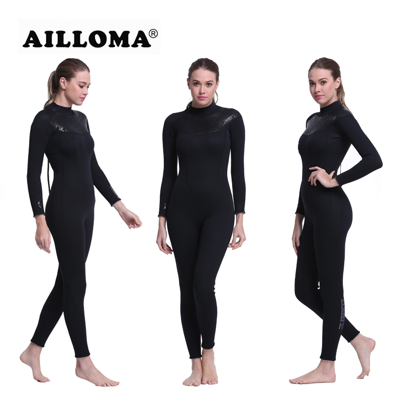 AILLOMA 3MM Wetsuit Women Zipper Swimsuit Full Body Jumpsuits Triathlon Diving Suit For Women Swimming Surfing Sports ClothingAILLOMA 3MM Wetsuit Women Zipper Swimsuit Full Body Jumpsuits Triathlon Diving Suit For Women Swimming Surfing Sports Clothing