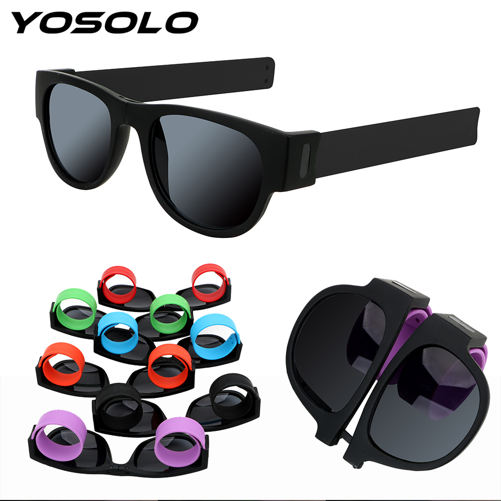YOSOLO Motorcycle Fold Sun Glasses UV Protection Outdoor Sports Circle Round Sunglasses Protective Gear Polarized Eyewear