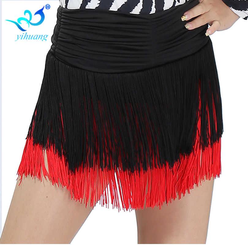 713ccd5a ... Falda de traje de danza del vientre para mujer Latino/salón de baile/Cha  ...