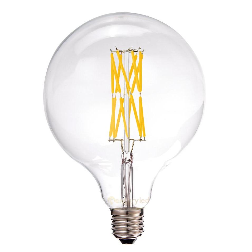 16W,LED Vintage Filament Bulb,G125 Edison Style,Super warm 2200K,110V 220V,Decorative Lighting,E26 E27 Medium Base 5pcs e27 led bulb 2w 4w 6w vintage cold white warm white edison lamp g45 led filament decorative bulb ac 220v 240v