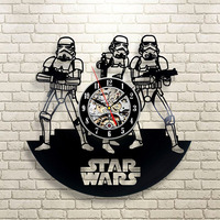 Home Living Vinyl LP Record CD Wall Clock 3D Modern Design Hanging Watches for Home Decoration 1