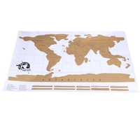 Free Shippin Travel Scratch Off Map Personalized World Map Poster Traveler Vacation Log E A3