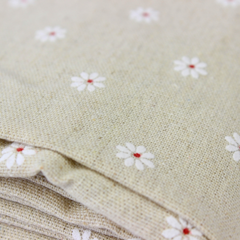 Have An Inquiring Mind 50x150cm White Daisy Cotton Fabric Cloth For Diy Handmade Sewing Patchwork Sofa Curtain Tablecloth Bedding Bag Baby Doll Textile Home & Garden