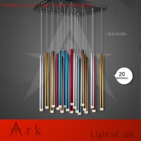 Ark light Dia 3cm Aluminum cannular 3W warm color led Pendant Lamp Custom project indoor decoration TUBE Shape LED bar lamp