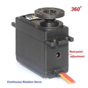 Image 3 - 4 Uds. Feetech FS5103R 3 kg. cm 360 grados de rotación continua RC servomotor analógico para Robot Smart Car Boat FZ3413